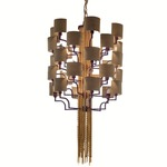 30 Light Stacked Chandelier - Eggplant Metal / Gold