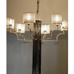6 Light Chandelier - Silver /