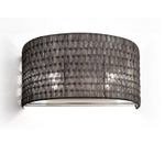 2 Light Wall Sconce -  / Black Nickel Weave