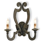 Retrospect Wall Light - Bronze Verdigris / Clear