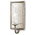 Twilight Wall Sconce - Harlow Silver Leaf / Antique Mirror