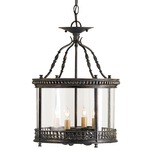 Grayson Lantern/Semi Flush - Black /