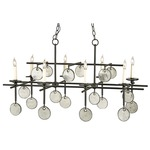 Sethos Rectangular Chandelier - Old Iron / Clear
