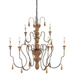 Mansion Medium Chandelier - Mansion Gold /