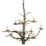 Treetop Chandelier - Old Iron /