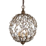 Crystal Bud Sphere Chandelier - Cupertino / Crystal
