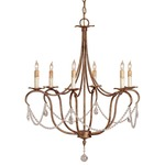 Crystal Lights Chandelier - Gold / Crystal