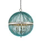 Alberto Orb Chandelier - Cupertino / Turquoise /