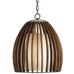 Carling Pendant - Old Iron / Putty Burlap