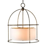 Benson Lantern - Bronze / Beige Shantung