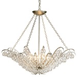 Quantum Chandelier - Silver Leaf / Clear