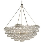 Stratosphere Chandelier - Silver Leaf / Clear