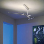 Linea Semi-Flush Ceiling Light - Brushed Aluminum /