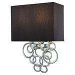 Ringlets Wall Sconce - Chrome / Black Linen