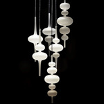Alpha Multi Light Pendant - Lacquered / Frosted
