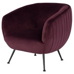 Sofia Occasional Chair - Matte Black / Mullberry