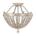 Adele Semi Flush Ceiling Light - Silver Quartz
