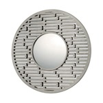 Modern Circular Mirror - Antique Silver