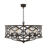Signature Outdoor 934461 Chandelier - Oiled Bronze / Clear