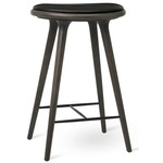 Copenhagen Kitchen High Stool - Sirka Grey Beech / Black Leather