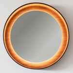 Halo LED Mirror - Walnut / Mirror