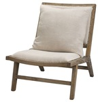 Baldwin Chair - Grey Washed Wood / Off White