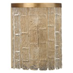 Waterfall Demi-Lune Wall Sconce - Antique Brass / Clear