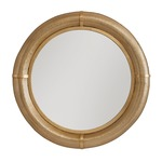 Perforated Metal Round Mirror - Polished Brass