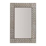 Metal Basket Weave Mirror - Antique Nickel