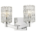 Aubrey Bathroom Vanity Light - Chrome / Clear