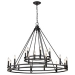 Dennison Two Tier Chandelier - Matte Black