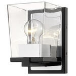 Bleeker Street Wall Sconce - Chrome / Clear