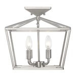 Townsend Semi Flush Ceiling Light - Satin Nickel