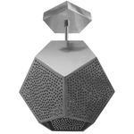 Ula Semi Flush Ceiling Light - Silver