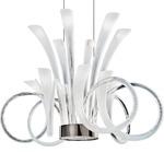 Pulsa Chandelier - Iron Gray / White
