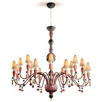 Ivy and Seed Flat Chandelier - Red Coral