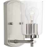 Adley Wall Sconce - Brushed Nickel / Clear