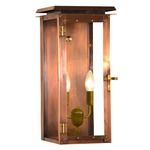 Hyland Outdoor Flush Wall Light - Antique Copper