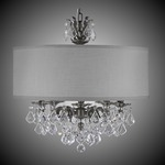 Llydia 5 Light Chandelier - Antique Silver / Grey