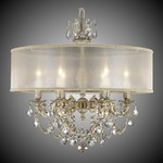 Llydia 6 Light Chandelier - Antique White / Gold