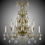 Blairsden 12 Light Chandelier - True Brass / Crystal