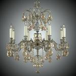 Marlena Chandelier - Antique White / Crystal