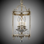 Lantern Round Pendant - Antique White / Clear