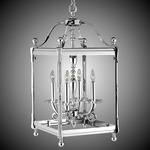 Lantern Square Pendant - Polished Nickel / Clear