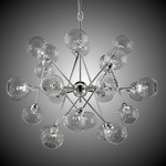Magro 24 Globe Chandelier - Polished Nickel / Clear