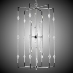 Magro Foyer Chandelier - Silver / Clear
