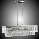 Valencia Rectangular Chandelier - Polished Nickel / Clear