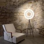 Iris Floor Lamp - Black / White