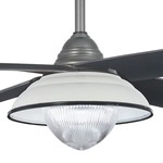 Optional Ceiling Fan Shade - White