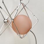 Jack O Lantern Small Sconce - Sphere Only - Chrome / Transparent Light Pink